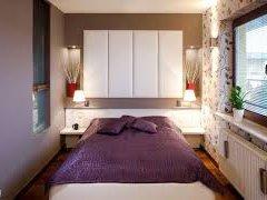 Оригінальний дизайн вузької спальні