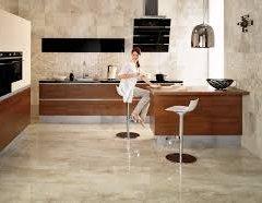 Підлога на кухні з каменю