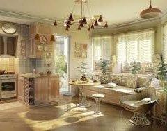 Дизайн кухні – вітальні: основні прийоми