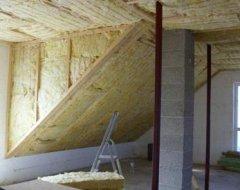 Утеплення даху мінватою