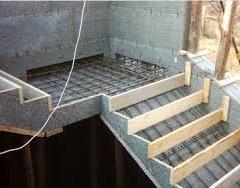 Розрахунок, монтаж, заливка та оздоблення бетонних сходів своїми руками