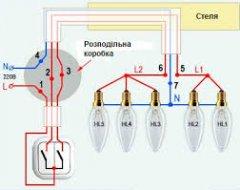 Як підключити люстру до вимикача