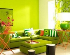 Вітальня в зеленому кольорі: інтер'єр в зелених тонах