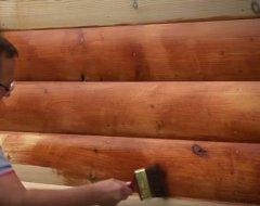 Фарбування дерев'яного будинку зовні