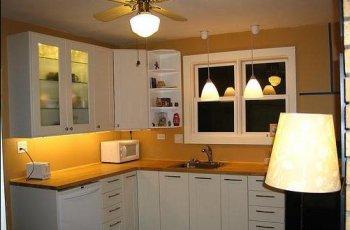 Світло на кухні: помилки і принципи