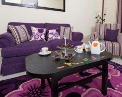 Фіолетовий колір в інтер'єрі квартири